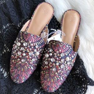 A New Day • Crystal & Pearl Mules